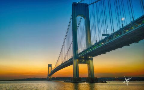 Verrazano Narrows Bridge高清壁纸
