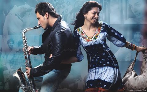 Saif Deepika in Love Aaj Kal wallpaper