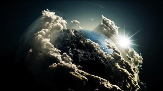 Photo Manipulation Planets & Sun HD wallpaper